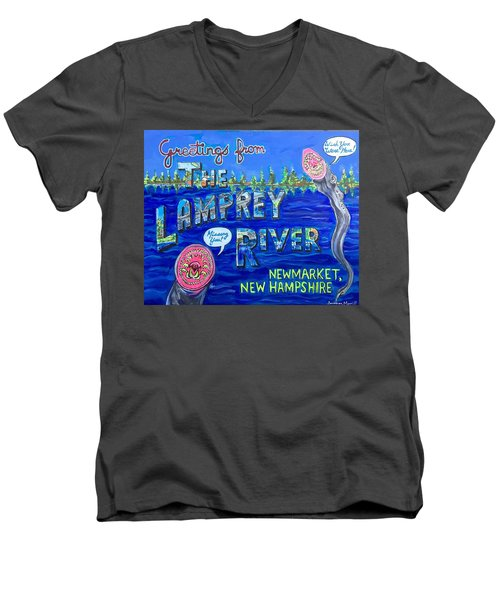 Greetings From The Lamprey River Men's V-Neck T-Shirt