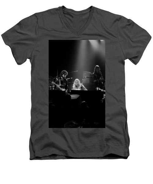 Greg Allman  Men's V-Neck T-Shirt by Kevin Cable