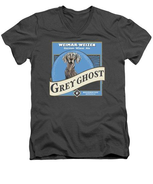 Grey Ghost Weimar-weizen Wheat Ale Men's V-Neck T-Shirt