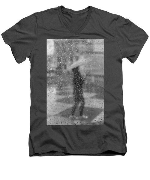 Grey Rain Men's V-Neck T-Shirt