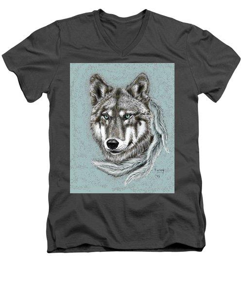 Grey Wolf Men's V-Neck T-Shirt
