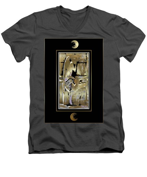 Grief Angel - Black Border Men's V-Neck T-Shirt