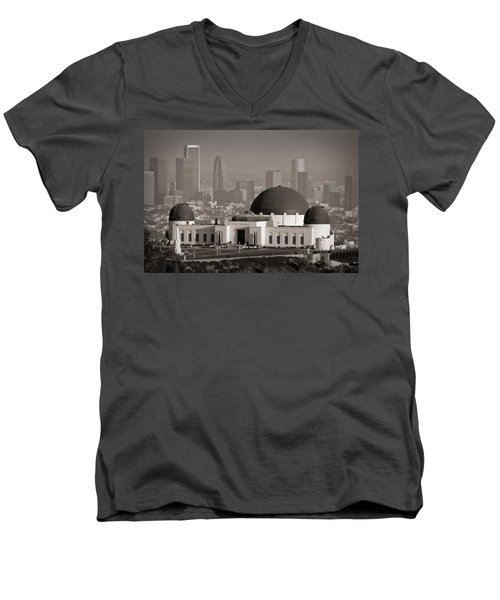 Griffith Observatory Men's V-Neck T-Shirt