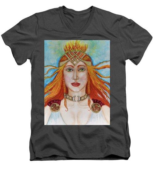 Brigidd Of The Sacred Flame Men's V-Neck T-Shirt