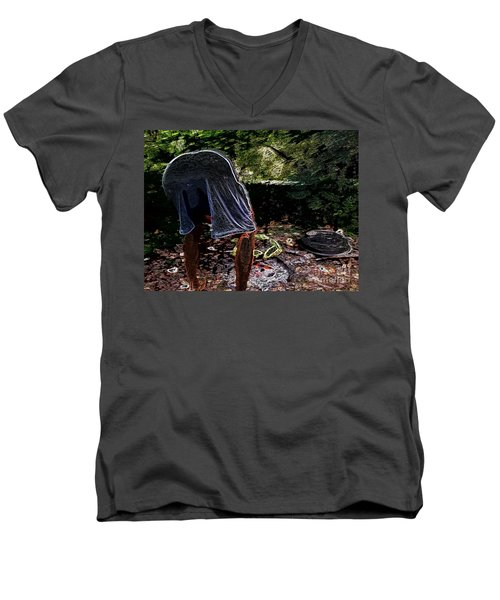 Grilling Out Men's V-Neck T-Shirt