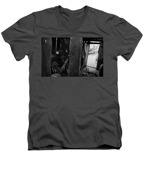 A Lurking Pepper-grinder Men's V-Neck T-Shirt