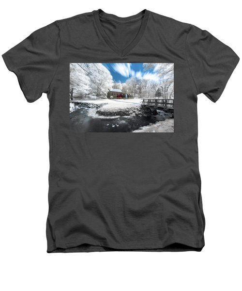 Grist Mill In Halespectrum Men's V-Neck T-Shirt
