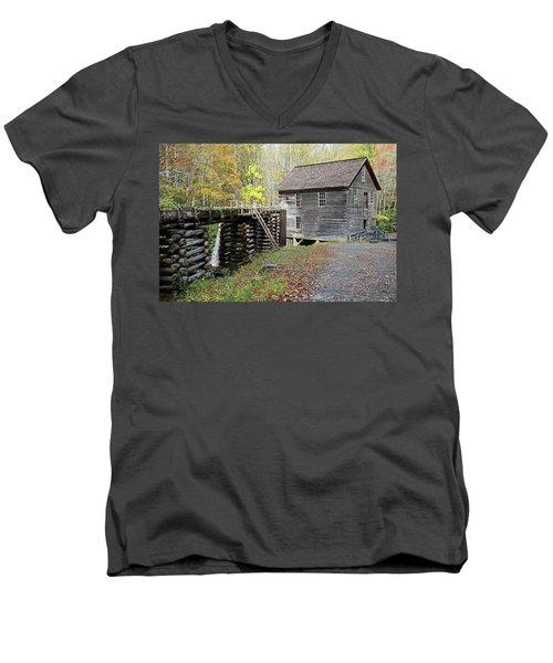 Grist Mill Men's V-Neck T-Shirt by Lamarre Labadie