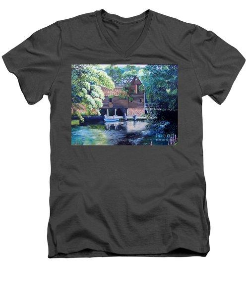 Grist Mill Philipsburg N Y Men's V-Neck T-Shirt