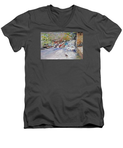 Grist Mill Spill Way Men's V-Neck T-Shirt by P Anthony Visco
