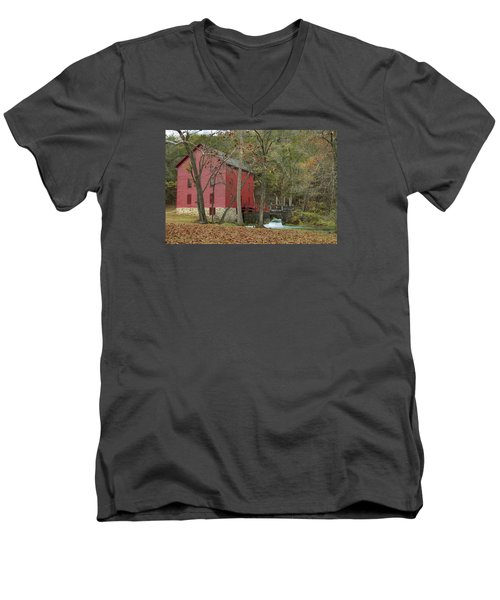 Grist Mill Wwaterfall Men's V-Neck T-Shirt