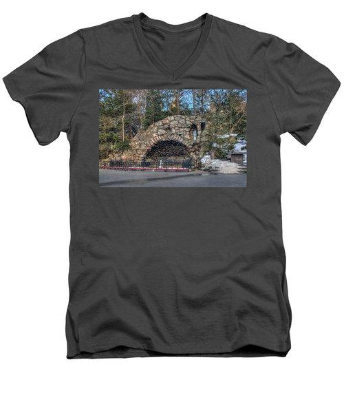 Grotto At Notre Dame University Men's V-Neck T-Shirt
