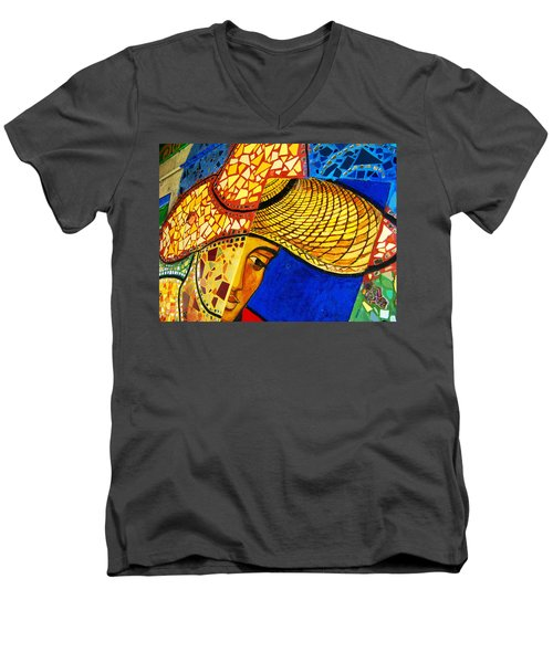 Growing Edgewater Mosaic Men's V-Neck T-Shirt