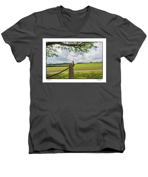 Men's V-Neck T-Shirt featuring the photograph Growing Season by R Thomas Berner