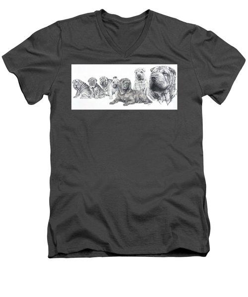 Mister Wrinkles And Family Men's V-Neck T-Shirt