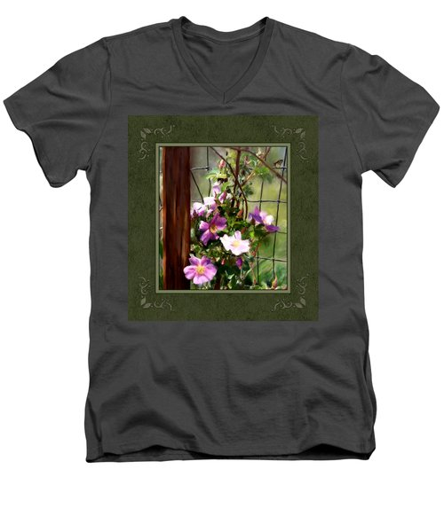 Men's V-Neck T-Shirt featuring the digital art Growing Wild by Susan Kinney