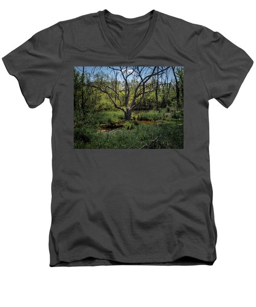 Growning From The Marsh Men's V-Neck T-Shirt