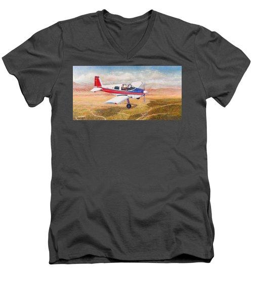 Grumman 1aa-1b  Men's V-Neck T-Shirt