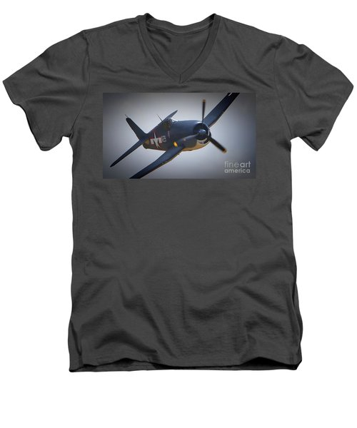 Grumman F6f Hellcat K-29 Men's V-Neck T-Shirt