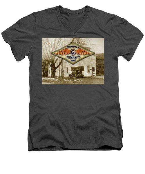 Grumman Wings Men's V-Neck T-Shirt