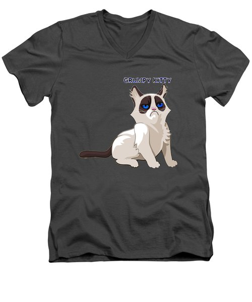 Grumpy Cat Men's V-Neck T-Shirt