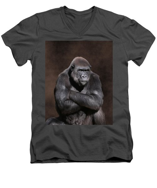 Grumpy Gorilla Men's V-Neck T-Shirt