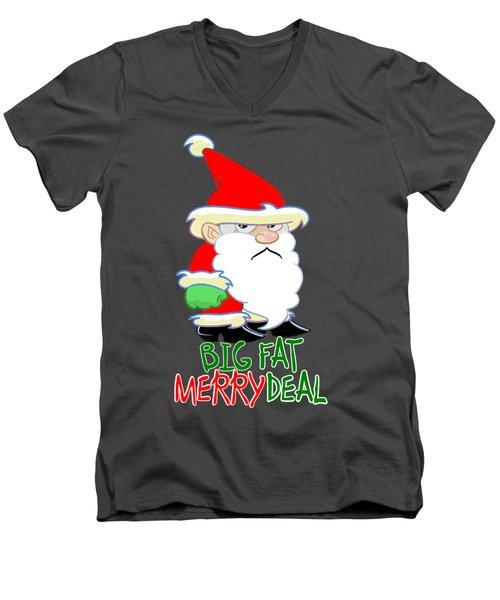 Grumpy Santa Men's V-Neck T-Shirt