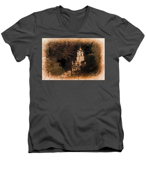 Grungy Todos Santos Men's V-Neck T-Shirt