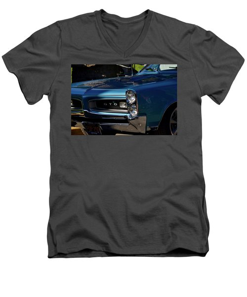 Gto Detail Men's V-Neck T-Shirt by Dean Ferreira