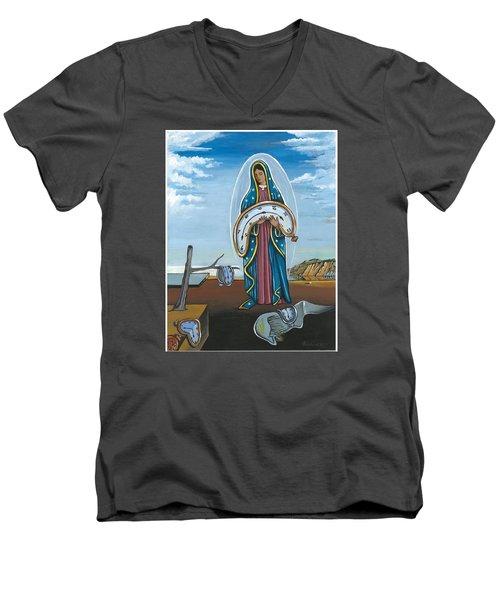Guadalupe Visits Dali Men's V-Neck T-Shirt