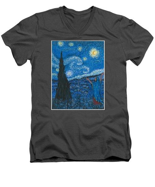 Guadalupe Visits Van Gogh Men's V-Neck T-Shirt