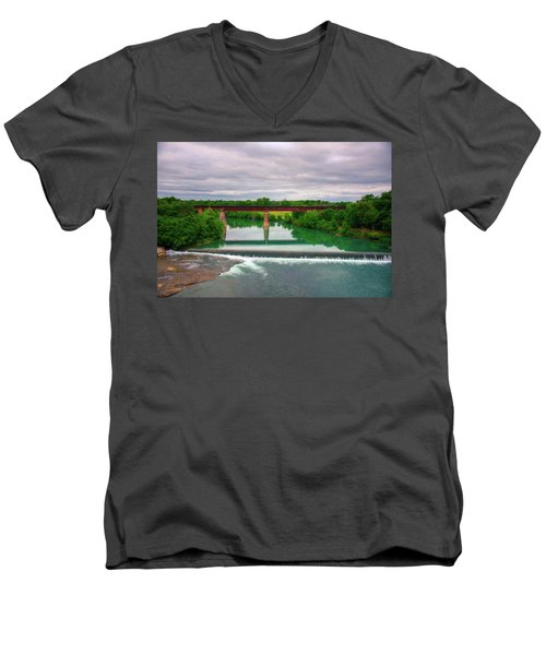 Guadeloupe River Men's V-Neck T-Shirt by Kelly Wade