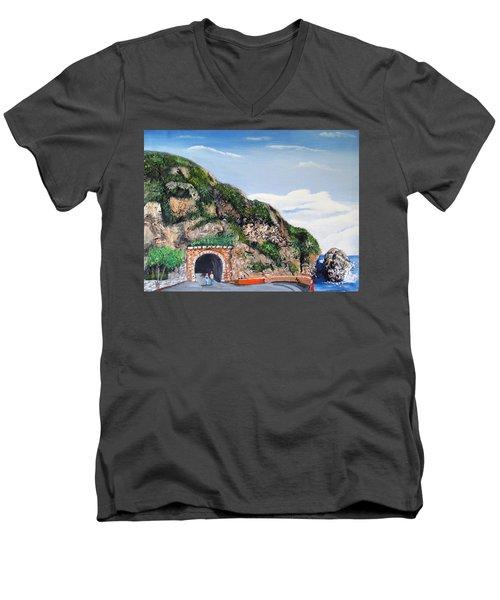 Guajataca Tunnel Men's V-Neck T-Shirt
