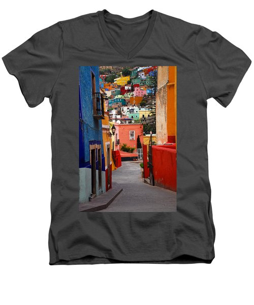 Guanajuato Lane Men's V-Neck T-Shirt
