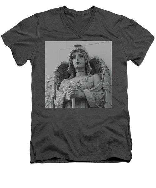 Guardian Angel On Watch Men's V-Neck T-Shirt