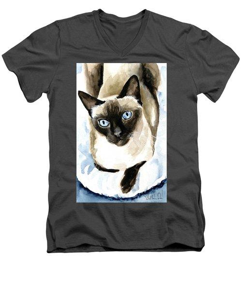 Guardian Angel - Siamese Cat Portrait Men's V-Neck T-Shirt