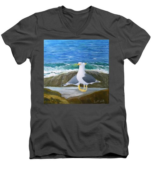 Guarding The Land And Sea Men's V-Neck T-Shirt