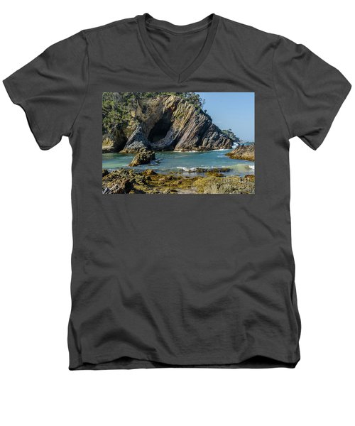Men's V-Neck T-Shirt featuring the photograph Guerilla Bay 4 by Werner Padarin