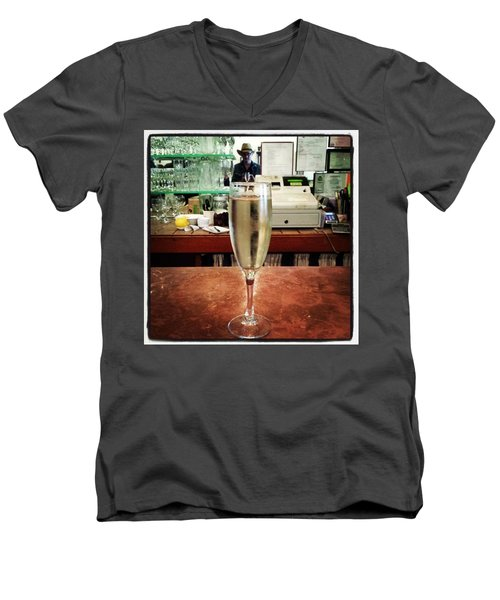 Men's V-Neck T-Shirt featuring the photograph Guess What Guess Where? by Mr Photojimsf