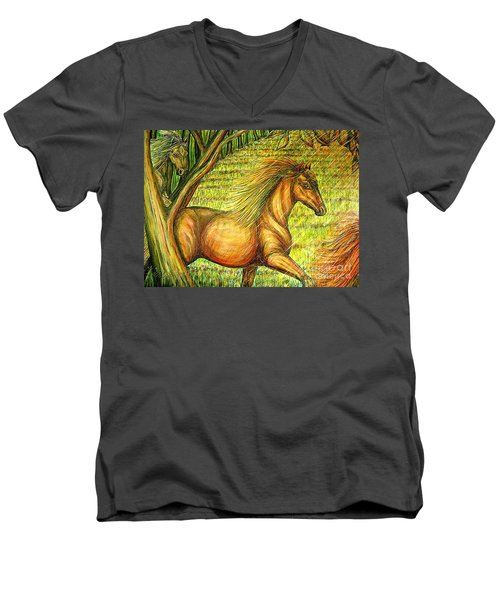Guidance-out Of The Woods Men's V-Neck T-Shirt