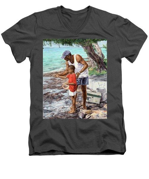 Guiding Hands Men's V-Neck T-Shirt