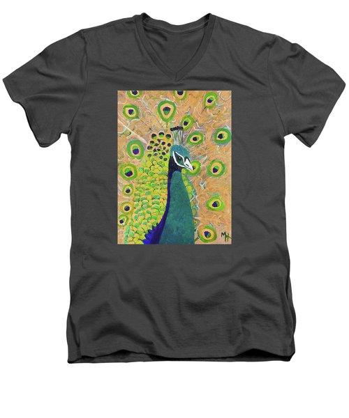 Guilded Peacock Men's V-Neck T-Shirt