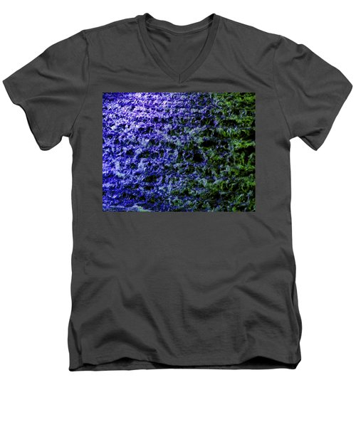 Men's V-Neck T-Shirt featuring the photograph Guildford Waterfall by Will Borden