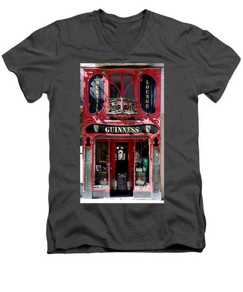 Men's V-Neck T-Shirt featuring the photograph Guinness Beer 5 by Andrew Fare
