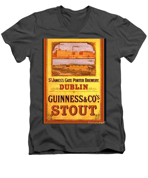 Guinness - Stout Men's V-Neck T-Shirt by Pg Reproductions