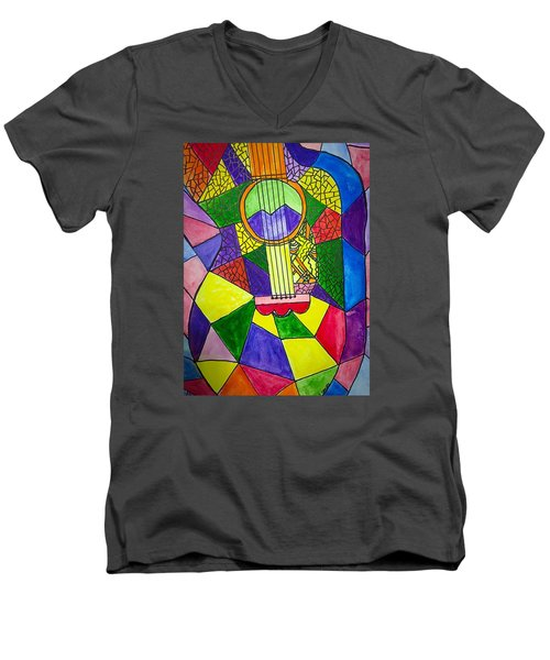 Guitar Abstract Men's V-Neck T-Shirt