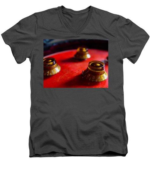 Guitar Controls Series Men's V-Neck T-Shirt