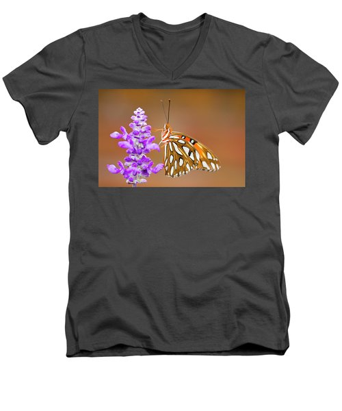 Gulf Fritillary Men's V-Neck T-Shirt