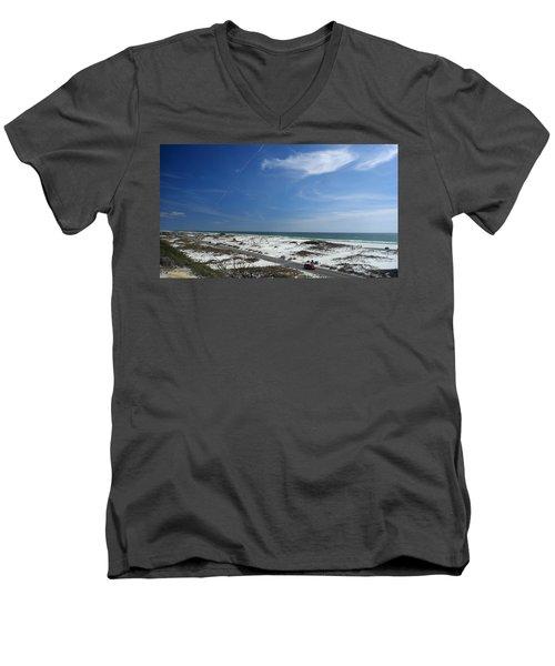 Gulf Of Mexico At Pensacola Beach Men's V-Neck T-Shirt