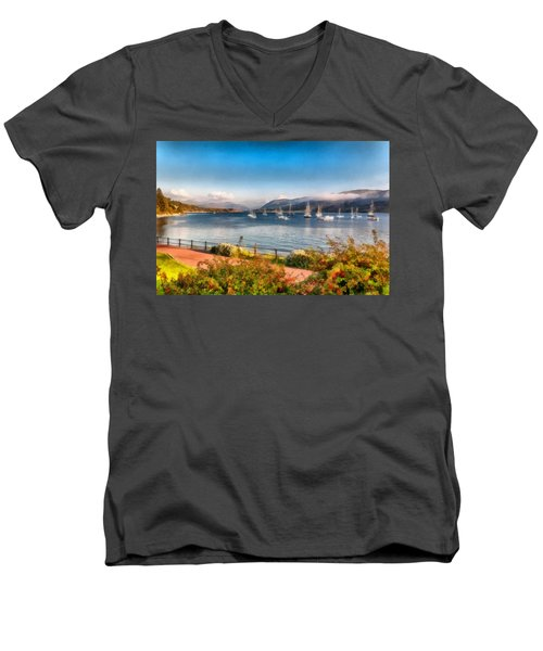 Men's V-Neck T-Shirt featuring the photograph Gulf Of  Ullapool      by Sergey Simanovsky
